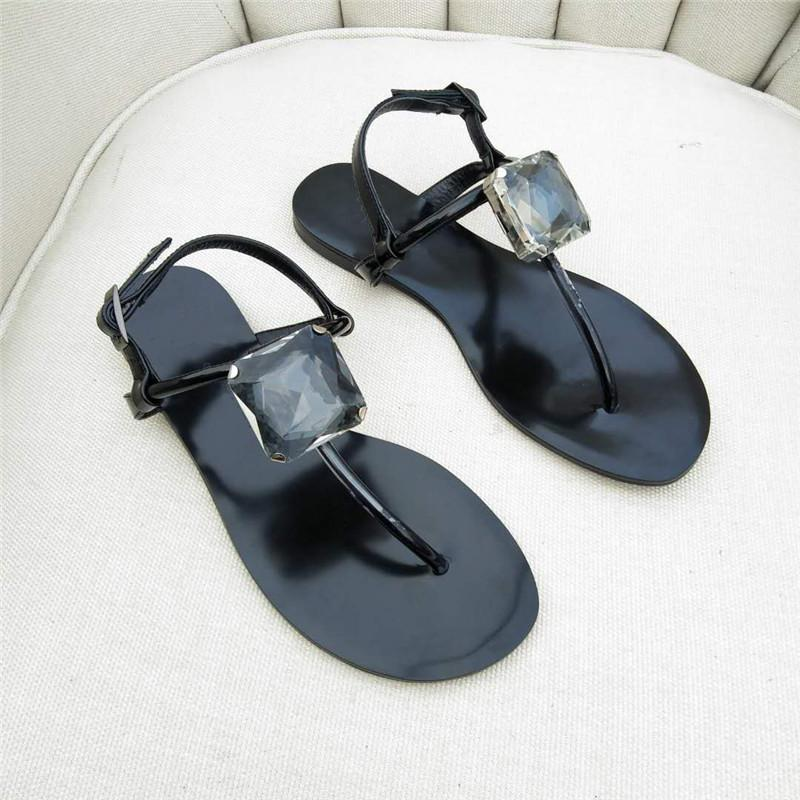2019 INS Women's Flat Heel Sandals Espadrilles Shoe Giuseppes Sandals rhinestone butterfly Leather designer shoes Flip Flop