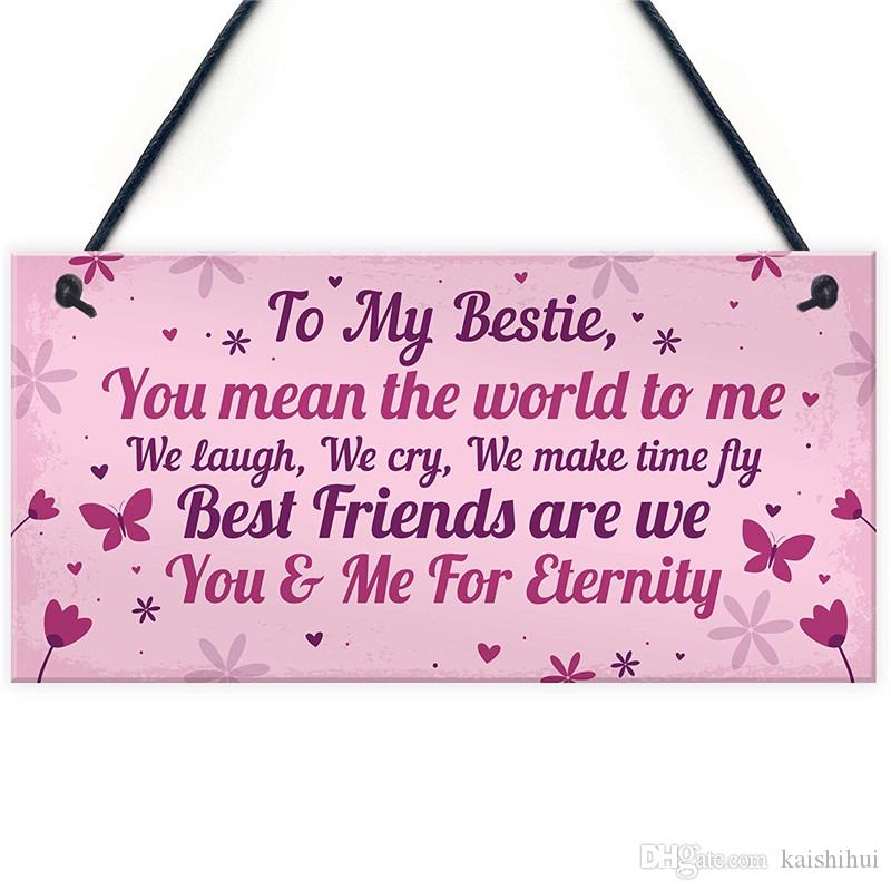 Keepsake Gift For Best Friend Friendship Birthday Hanging Plaque Thank You Design A Room Home Decor From Kaishihui