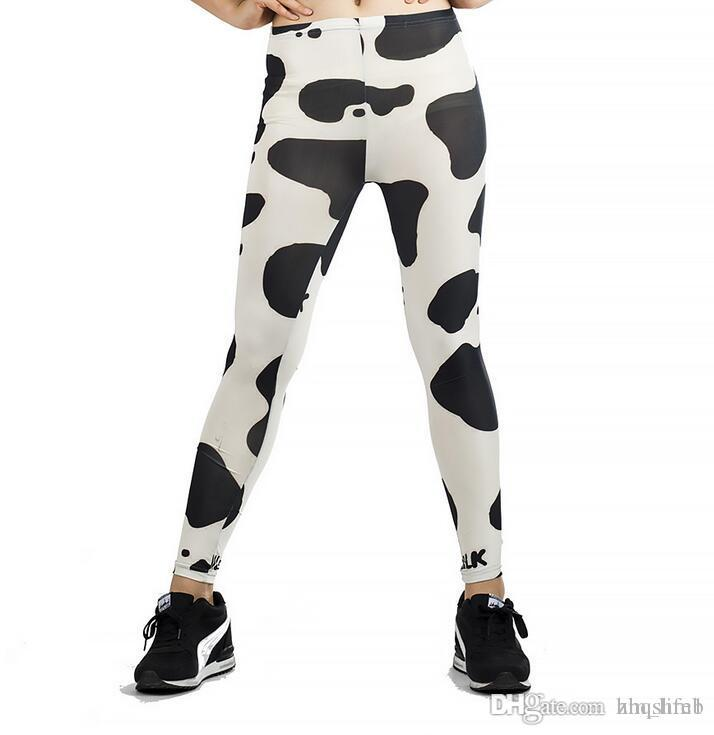 2801e255452638 2019 Women Yoga Trousers Pants Tights Trousers Female High Waist Dance  Active Leggings Cow Print Skinny Silm Motion Fitness From Zhqshmb, $7.04 |  DHgate.Com