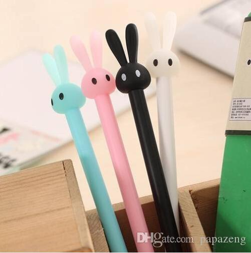 Wholesales HOT sales Free shipping 4pcs Cute Rabbit Gel Ink Point Pen Ballpoint Creative Stationery Student