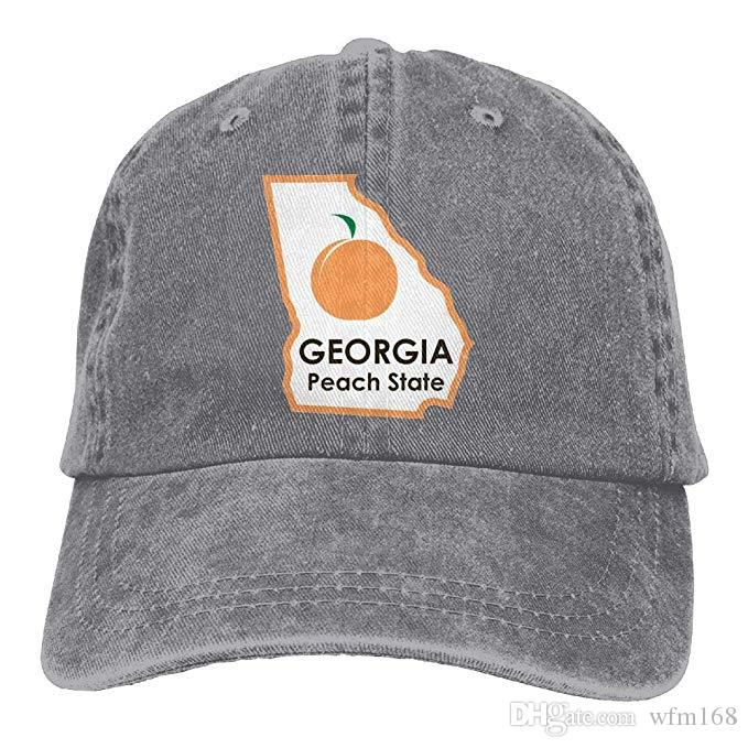2019 New Wholesale Baseball Caps Georgia Peach State Mens Cotton Adjustable  Washed Twill Baseball Cap Hat