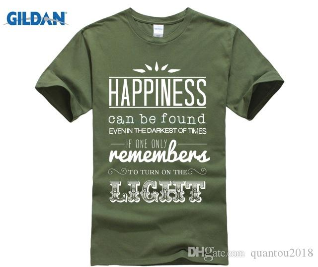 26ec876e2 Latest Fun T Shirt Top Casual Wear Harry Tee Happiness Can Be Found... Dumbledore  Quote, Harry Never Give Up Potter T Shirt Online Shirts T Shirt Design ...