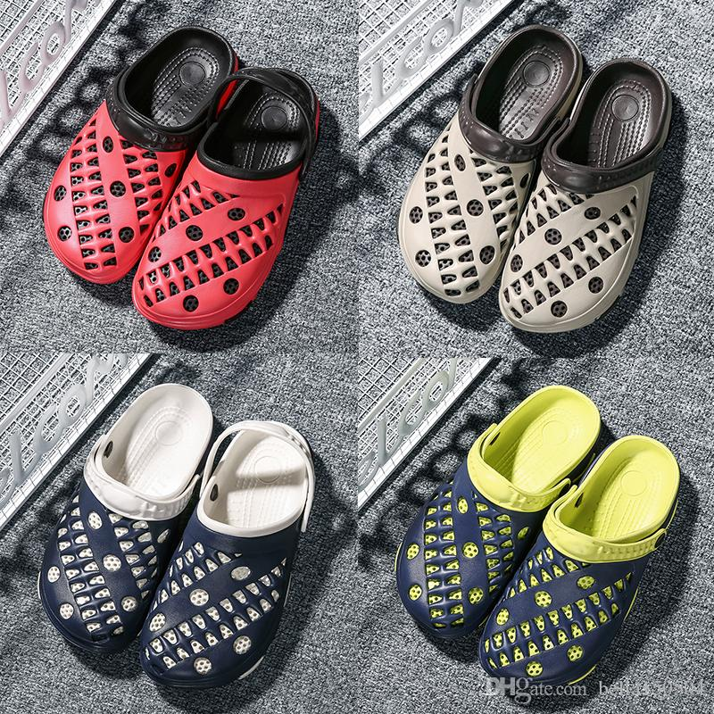 cb49ae1b1 Designer Sandals Hole Shoes New Summer Women Men CROC Flat Shoes Eva Sandals  Flip Flops Slippers Croc Band Beach Shoes Free Ship Cowgirl Boots Over The  Knee ...