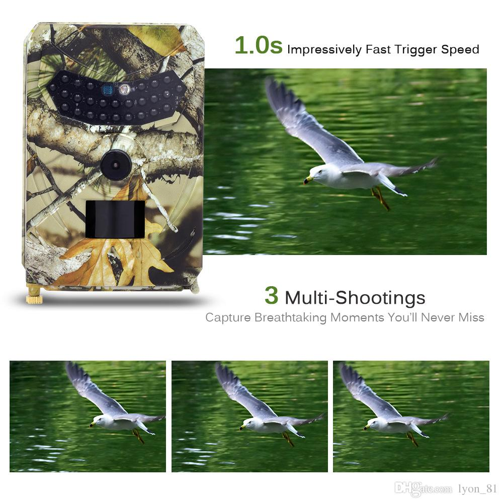 Trail Cameras with Night Vision Motion Activated Surveillance Cameras for  home Outdoor Security Camera IP65 Waterproof