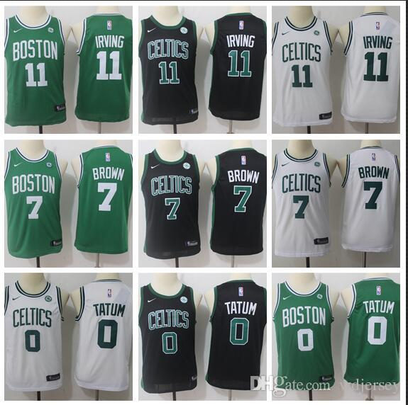 the best attitude d777c daaac Youth Boston New Season Celtics Jersey Kyrie Irving Tatum Bird Reward  Edition Baketball Jerseys - Green White Black
