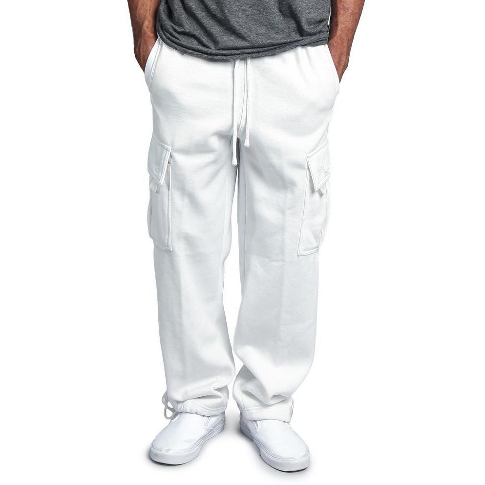 fc5808459 New New Sweatpants Men'S Drawstring Elastic Waist Pants Solid Pocket  Trousers Loose Straight Pants Men Movement Joggers Casual