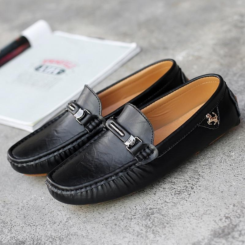 4d67be55d1308 Summer 2019 Slip On Men Shoes Fashion Driving Moccasin Men Soft Handmade Casual  Shoes Luxury Brand Young Loafers Anti Slip Boat Shoes Shoes For Men From ...