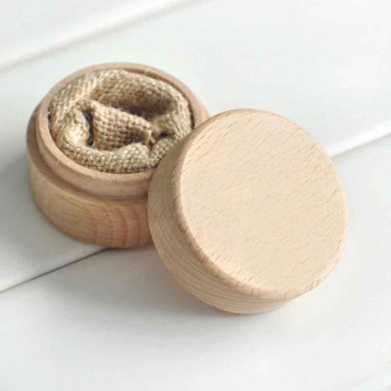 Grosshandel Holz Rustikale Hochzeit Ring Box Ringe Aufbewahrungsbox