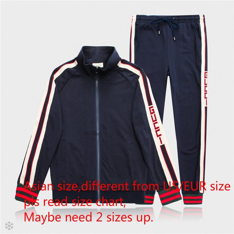 7705e0588 Trajes de hombre Chaquetas Pantalones Moda Sudadera deportiva Chándales  Diseñador de marca Casual Otoño Chaqueta con cremallera y pantalones largos  ...