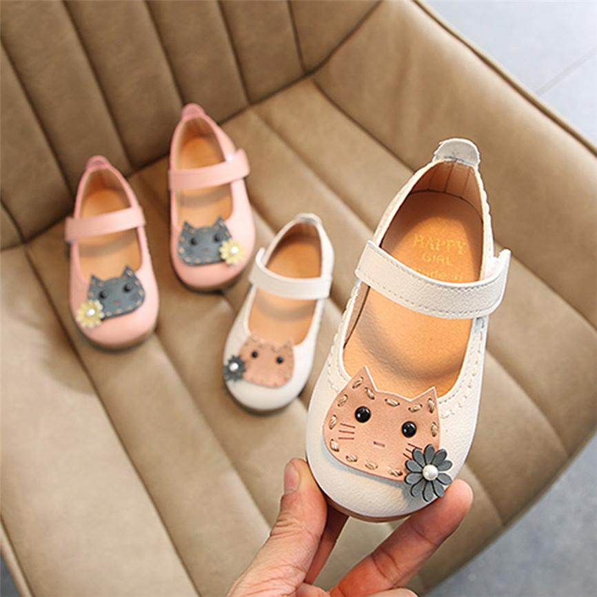 Spring&Summer Toddler Infant Kids Baby Girls Flower Cat Single Princess Shoes Casual Sandals Outdoor Shoes D