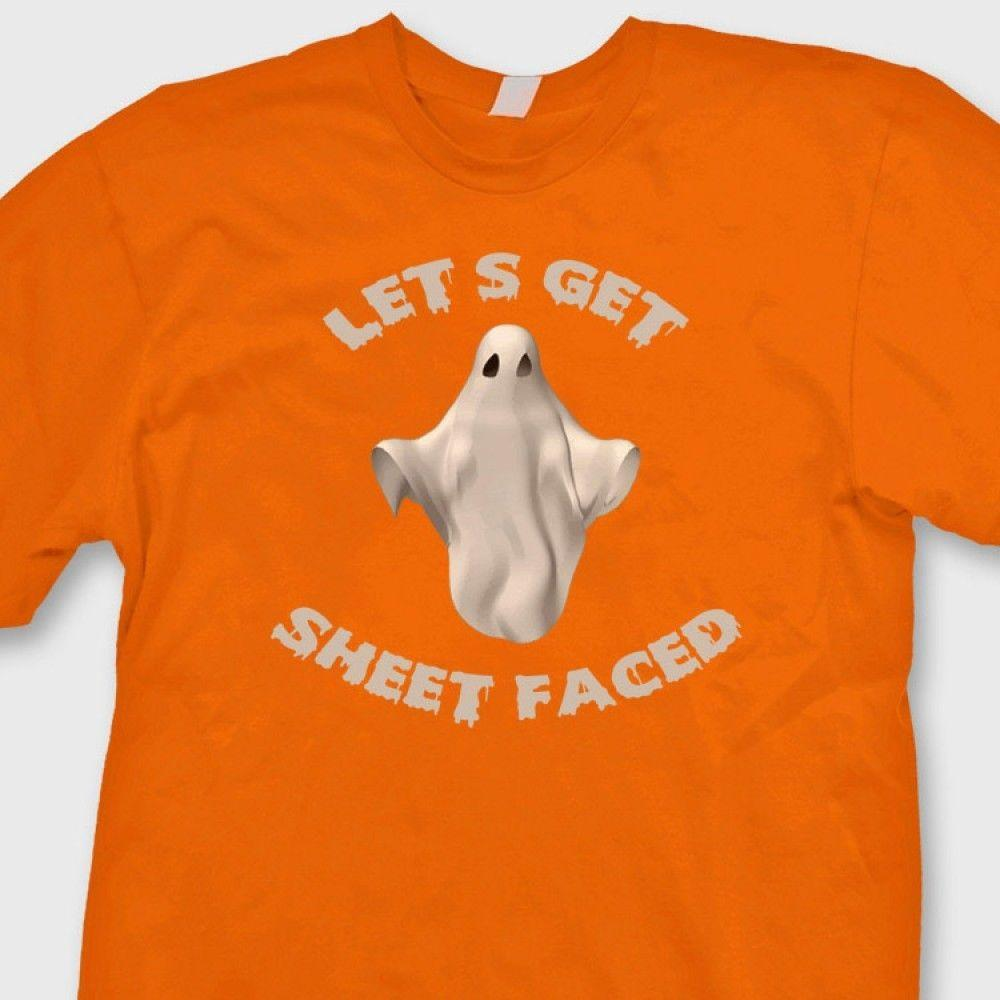 6437caf83 LETS GET SHEET FACED T Shirt Funny Halloween Party Ghost Tee Shirt Funny  Casual Tee Best T Shirt Sites T Shirt Shopping From Luckytshirt, $12.96|  DHgate.Com