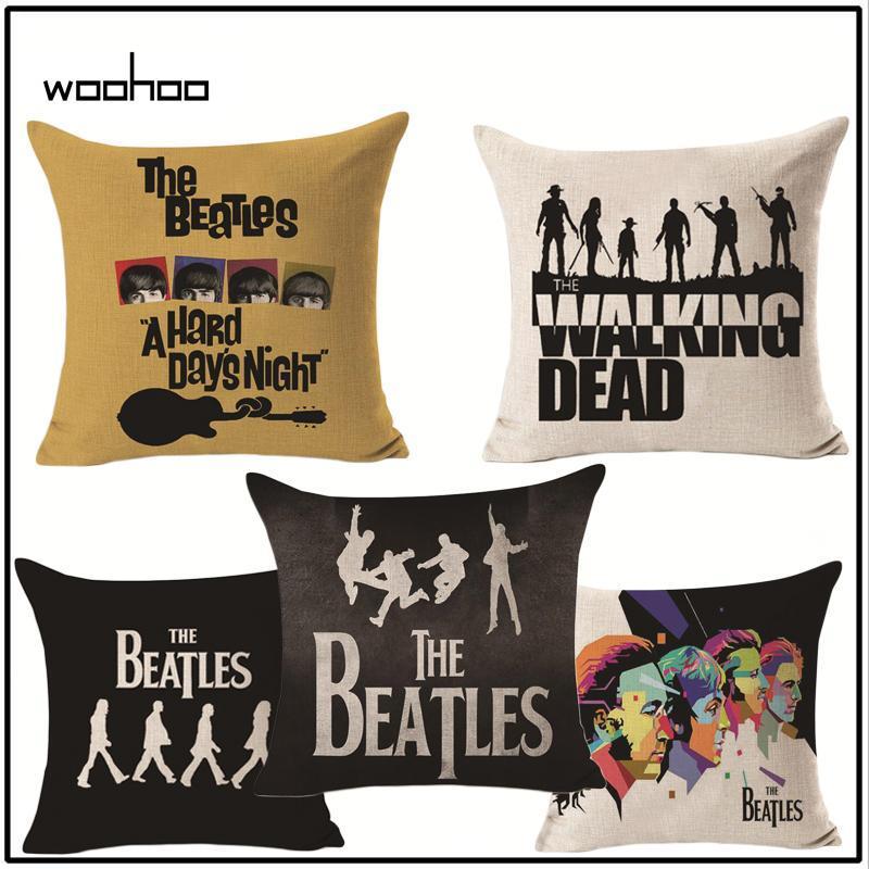 0cf195c45b9 Compre WOOHOO Creative The Beatles Almohada De Algodón Y Lino Funda  Posterior Cojín Para Apoyarse En Fundas De Almohada Hold Fundas A  32.53  Del Jawman ...