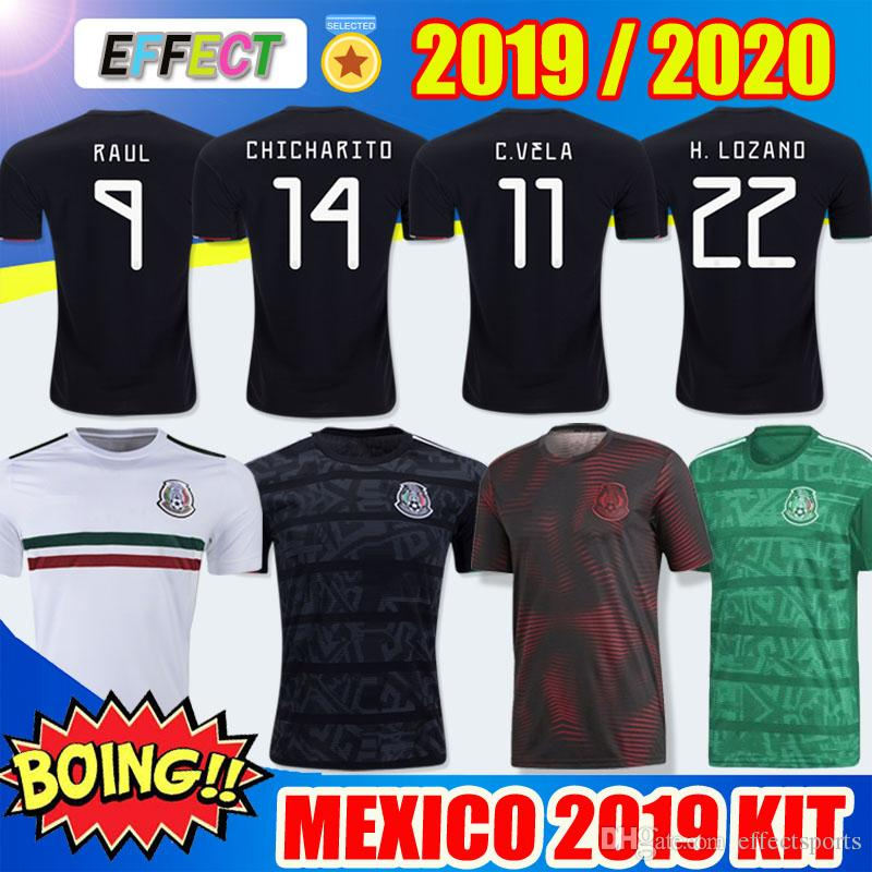 NEW 2019 Mexico national Soccer Jerseys Home Away Gold Cup CHICHARITO 2020 H.LOZANO VELA RAUL LAYUN Adult Kids Kit Training Football Shirts