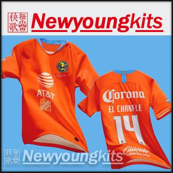 sports shoes 33791 1ce66 2019 20 Club america Third Orange soccer Jersey 19 20 Football uniforms  PERALTA P.AGUILAR DOMINGUEZ S.ROMERO SAMBUEZA soccer shirt