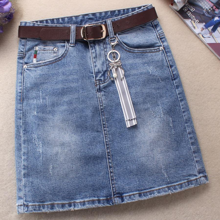 889d1fae0c 2019 2019 Spring Fashion Women Skirts Denim High Waist Stretch Package Hip  Mini A Line Jeans Skirt Plus Size 3xl C19041602 From Shen06, $41.5 |  DHgate.Com