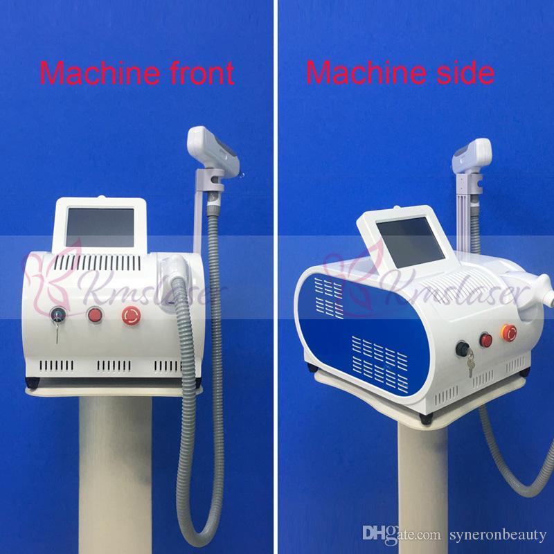 Con el objetivo rojo DHL envío rápido 532nm 1064nm Yag Máquina de eliminación de tatuajes con láser Q Interruptor de eliminación de pigmento en la ceja Belleza Equipo para el cuidado de la piel