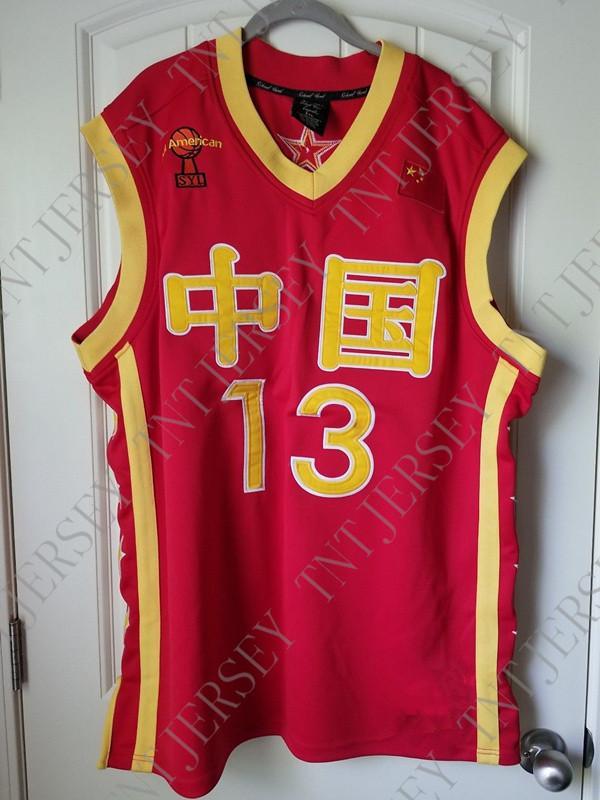 Compre Barato Personalizado Yao Ming Camisa De Basquete China Chinês  Costurado Personalizar Qualquer Nome Número HOMENS MULHERES JUVENTUDE  JERSEY XS 5XL De ... 35a5c5a742ee9