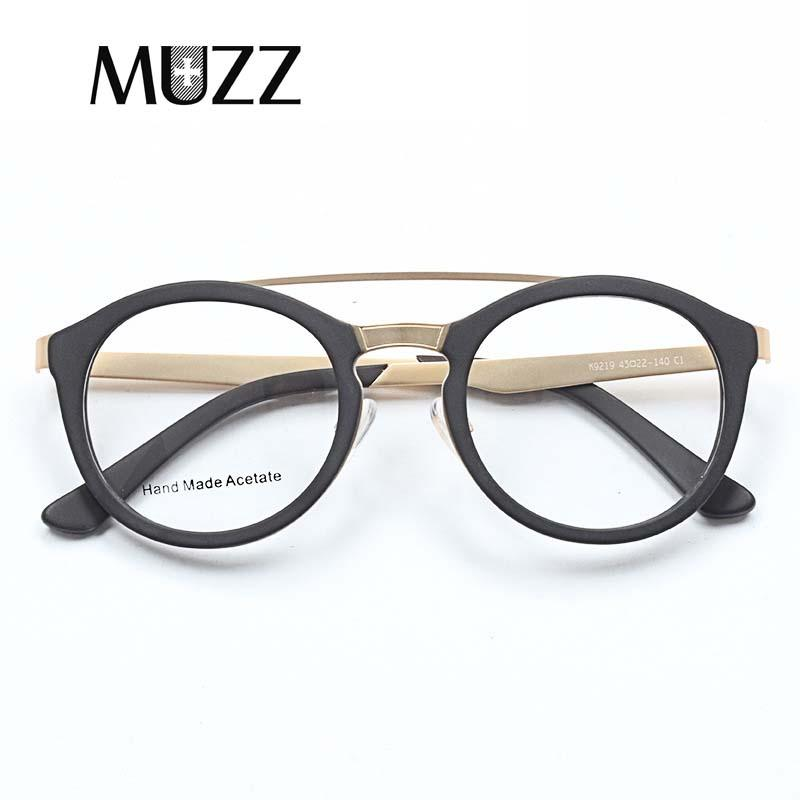 b0ca179545 2019 MUZZ Acetate Myopia Glasses Frame Round Vintage Double Beam Glasses  Frame Spectacles Clear Lens Prescription Lenses Men From Juemin