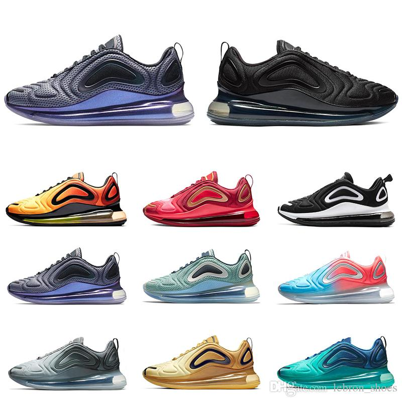 buy popular 1a17c 49e4f Acquista Nike Air Max 720 Mens Scarpe Da Corsa Donna Sneakers Sportive  Triple Nero Bianco Northern Lights Pink Sea TEAM CRIMSON CARBON GRIGIO Uomo  ...