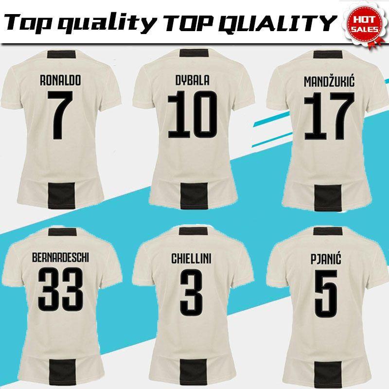 6b1a43928 Women Juventus Home Soccer Jerseys 18 19 Juventus  7 RONALDO Women Soccer  Shirts 2019 Lady Football Uniforms  10 DYBALA Girl Jersey JUVENTUS Soccer  Jers ...