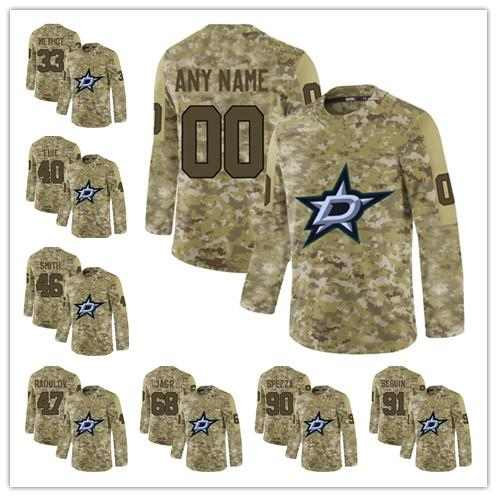 buy online 5d58e bc323 Custom 2019 Camo Dallas Stars 90 Jason Spezza 18 Tyler Pitlick any name any  number Personalized Mens stitched hockey Jersey