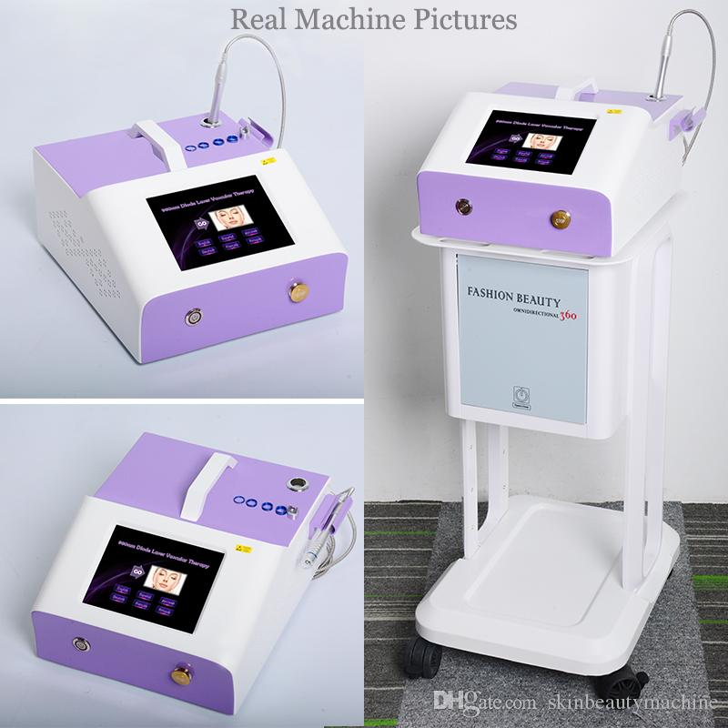 Клиника 980nm Сосудистая лазерная машина для Сосудистые сеточки Удаление Red Blood лица Покраснение Сосудистый Варикозное расширение вен лечение лазером устройства
