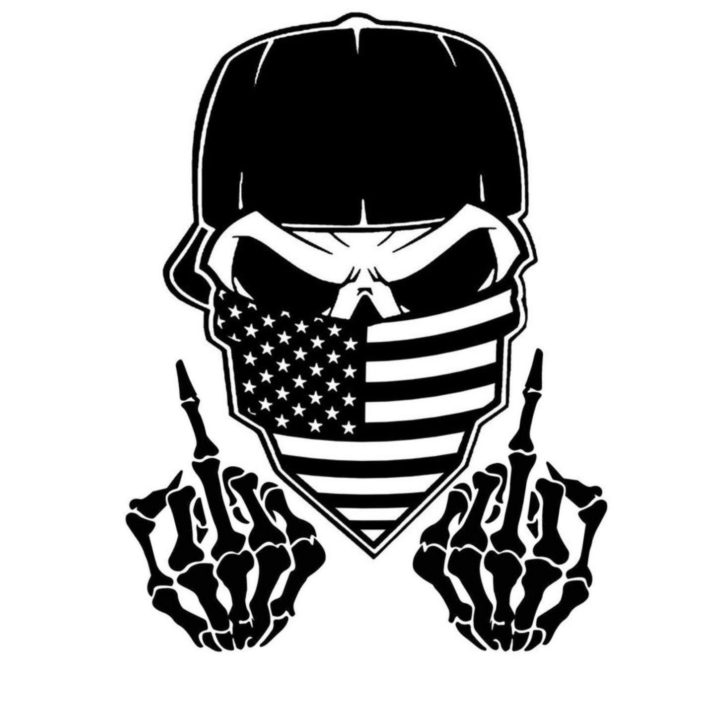 2019 car window decal truck outdoor sticker cool gangster skull wicked flag meric vinyl car wrap from xymy787 2 92 dhgate com