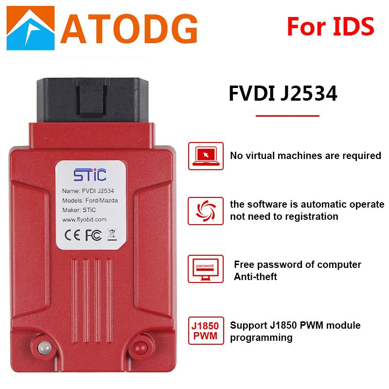 Newest FVDI J2534 for vcm for mazda for Ford IDS Forscan Diagnostic Tool  better than ELS27 ELM327 VCM2