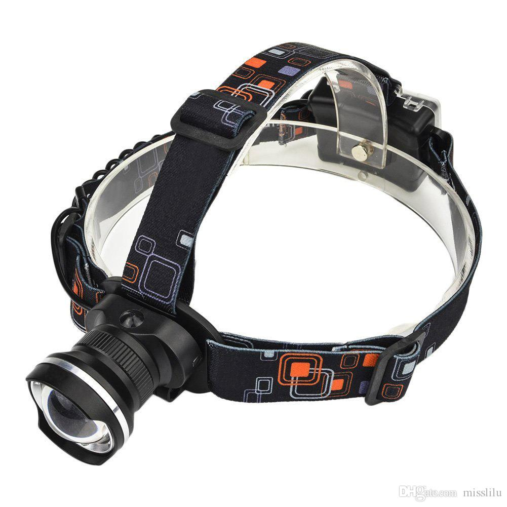 Fish Eye Head Lamp Zoom XML-T6 Strong camping lâmpada Bald