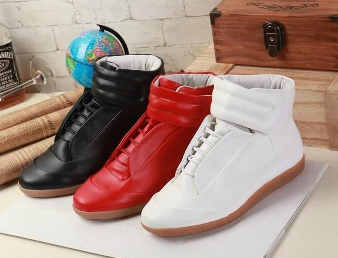 b6bf96eb05b3 Maison Martin Margiela Man Casual Shoes Future Genuine Leather Fashion Mens  Shoes High Tops Red Bottoms Man Flat Shoes Man High Top Sneakers Boat Shoes  For ...