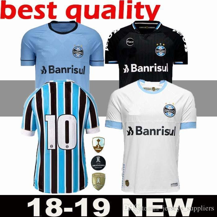 b15e96de496 2019 Thai 2018 Gremio Soccer Jersey Home Away 3rd FERNANDINHO LUAN GEROMEL  LUCAS ARTHUR 18 19 Thai Quality Brazil League Football Shirts Men Top From  ...