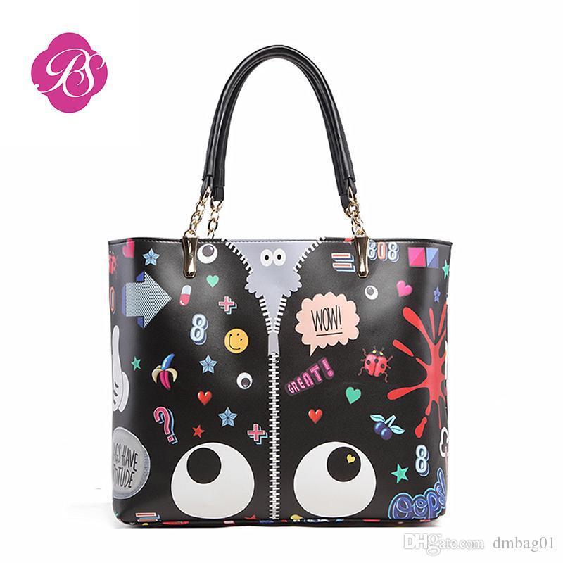 8d152f24e Pink Sugao Designer Luxury Handbags Purse For Women Designer Handbag  Cartoon Cute Shoulder Bag Composite Bag 2019 New Fashion Brand Tote Bag  Laptop ...