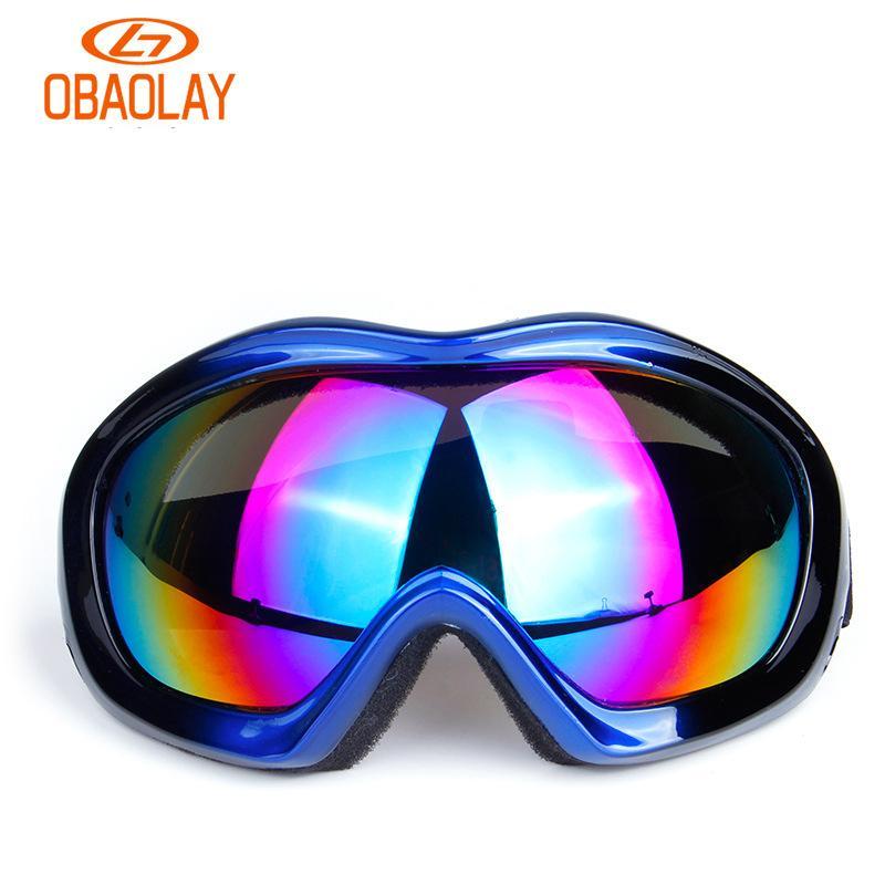52648b234ae1 OBAOLAY Anti Fog Ski Goggles Big Lens Ski Mask Glasses Skiing Snow Men  Snowboard Eyewear Mirror Coating MTB Goggles UV400 Canada 2019 From  Yiquanwater