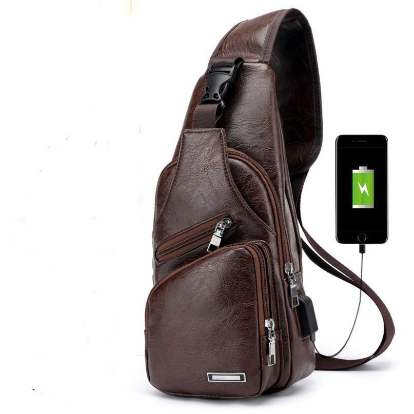 8b5df6e6d High Capacity Men Chest Bag Pu Leather Crossbody Bag Large Fashion Men s Shoulder  Bags Travel Chest Pack Dx18062801 Designer Handbags Messenger Bags From ...