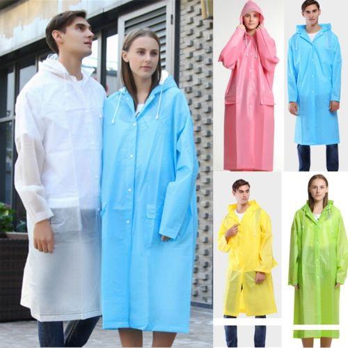 6ae30f989 2019 New Long Sleeve Hooded Transparent Raincoat Poncho Coat Waterproof  Outdoor Raincoat #319415