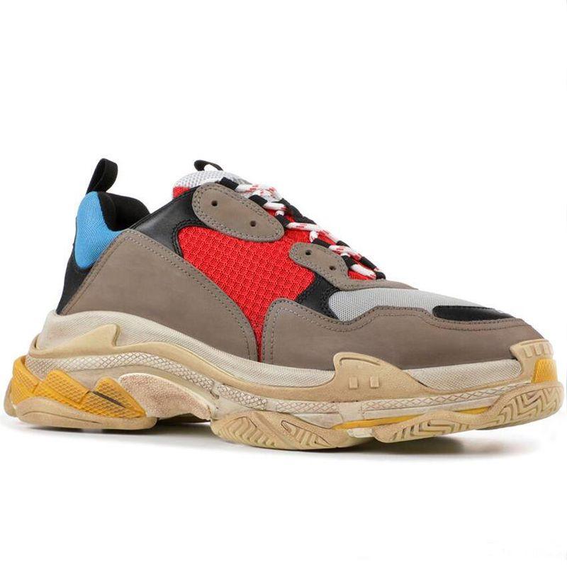 low priced d65d1 3e9f6 Diseñador De Moda Paris 17FW Triple S Sneakers Triple S Casual Papá Zapatos  De Lujo Para Hombres, Mujeres, Beige, Negro, Tenis Deportivo, Zapatillas  Para ...