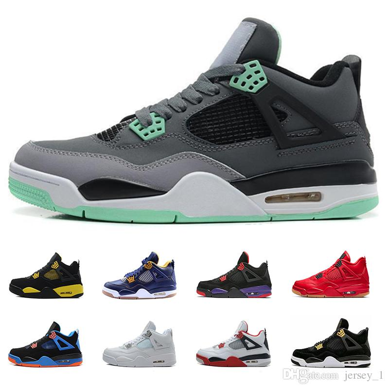 hot sale online 37664 6e95a 2019 2019 New 4 4s Desiger Mens Basketball Shoes Black Cat Mars Blackmon  Red Top Quality Sports Men Shoe Size 40 46 From Jersey 1,  92.39    DHgate.Com