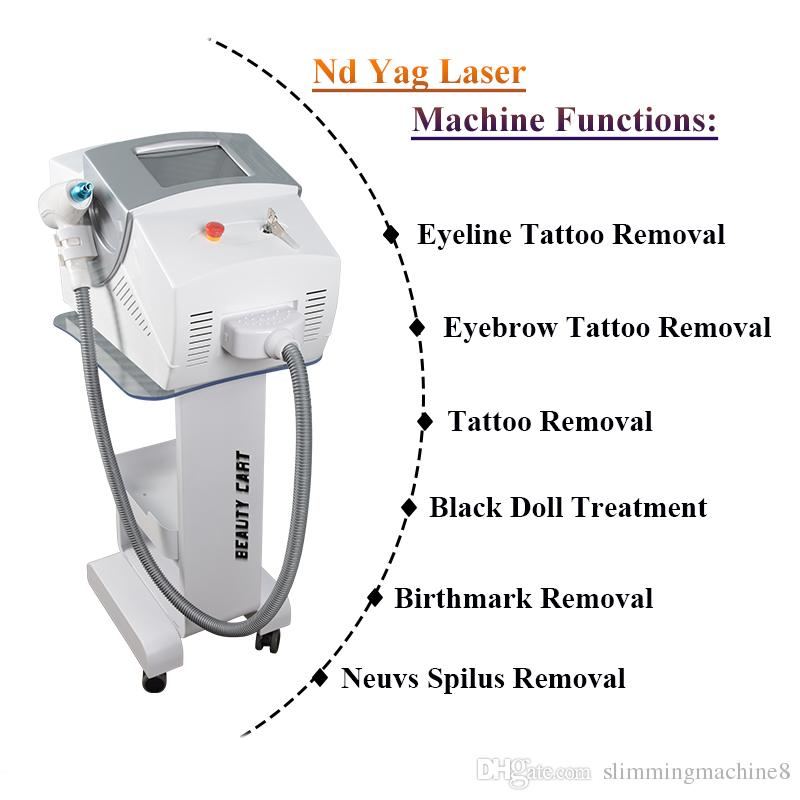 Best selling portable tattoo removal laser machine q switch nd yag laser CE approval with factory price
