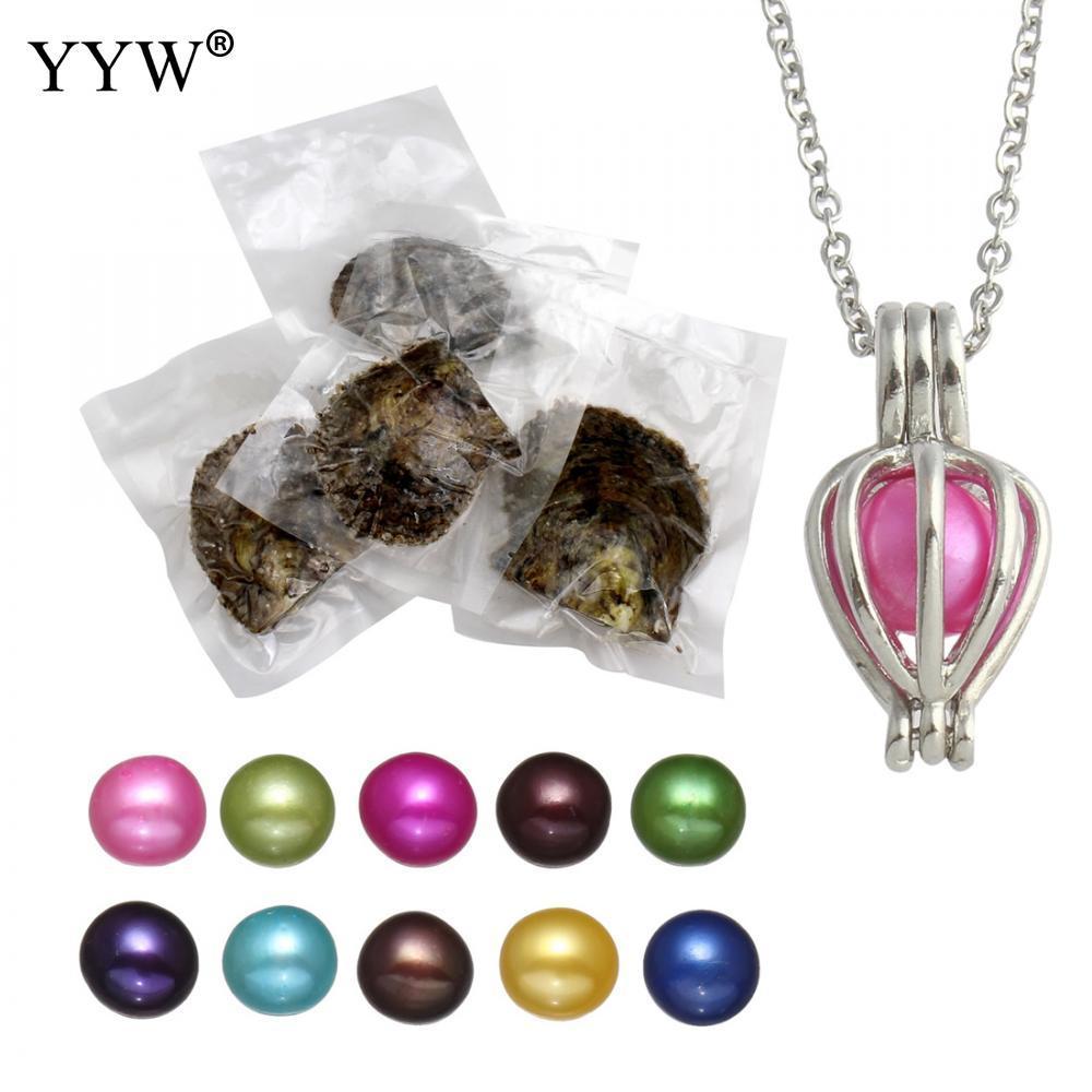 597f02421d27 Compre Juego De Joyas De Perlas Cultivadas Akoya Wish Pearl Oyster Collar  Cadena Oval Para Mujer Colores Mezclados 7 8mm   A  34.12 Del Dushiwatch