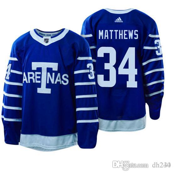 Uomini Auston Matthew Toronto Maple Leafs Jersey John Tavares Mitchell Marner William Nylander Morgan Rielly Josh Leivo hockey maglie uomo 4XL