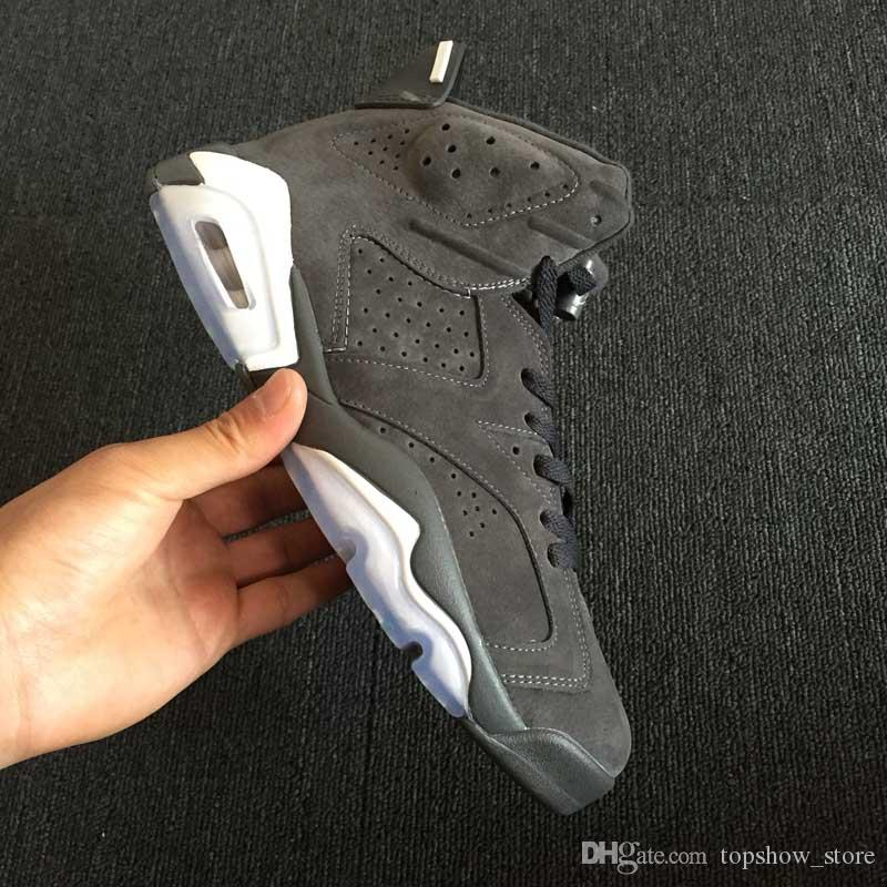 Luxury Sport Shoes 6s Jumpman Basketball Shoes Cool Grey Suede Mens Trending Sneakers for Outdoor Casual Trainers Size 40-45
