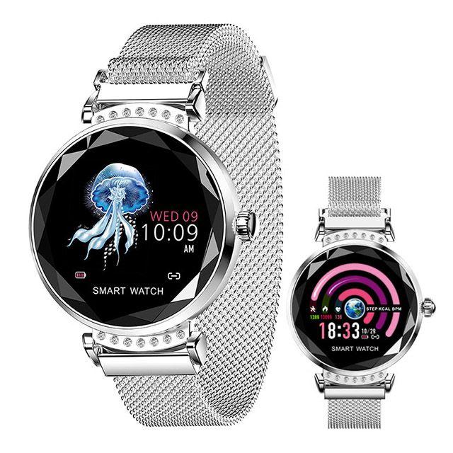 bc06c2938398 Pulsera inteligente para mujer reloj frecuencia cardíaca monitor de presión  arterial sueño fitness tracker ip67 impermeable deporte pulsera ...