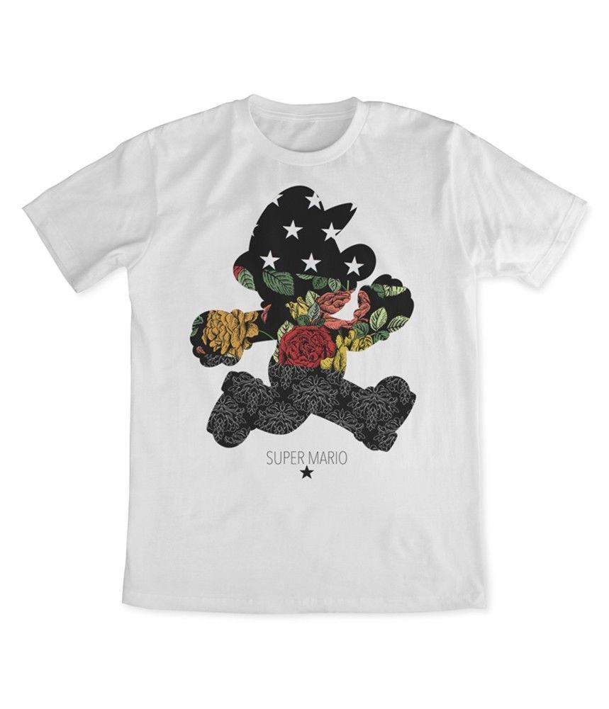 f83dafedcd0e Super Mario Mens Floral Graphic T Shirt Funny Unisex Casual Tshirt Top Custom  T Shirts T Shirt Printing From Redleaderclothing, $12.96| DHgate.Com