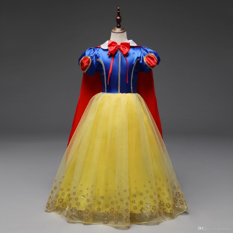 3f4ab0009 2019 110 150 Big Girls Cosplay Dress Baby Girl Princess Skirts With ...