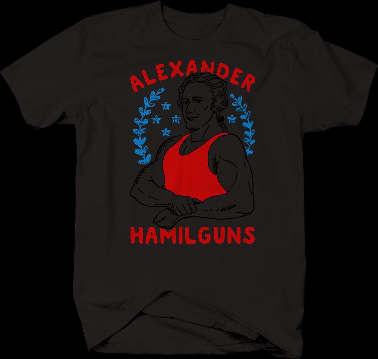 dd0b4e109 Alexander Hamilton Hamil Guns President Workout Gym Muscles T Shirt Cool  Tee Shirt T Shirt Online Buy From Kyngbee, $10.72| DHgate.Com