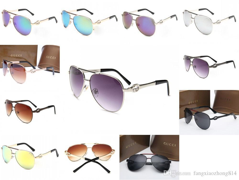 d913218563b Fashion Brand Sunglasses Men Women Designer Pilots Metal Sunglasses ...