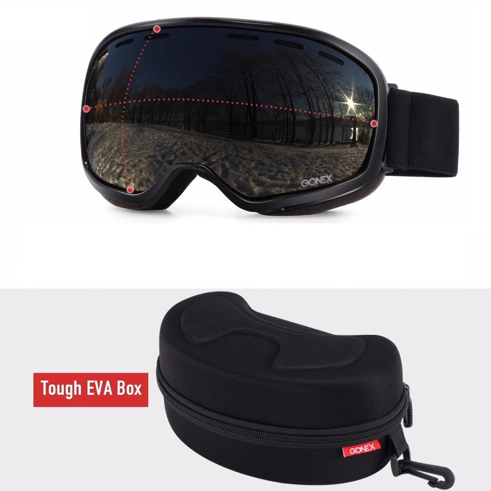 44be6ebcd666 2019 Gonex OTG Ski Goggles Snowboard Skiing Eyewear Glasses Men Women UV400  Protection Double Spherical Lens For Winter Sport + Case From Heheda5