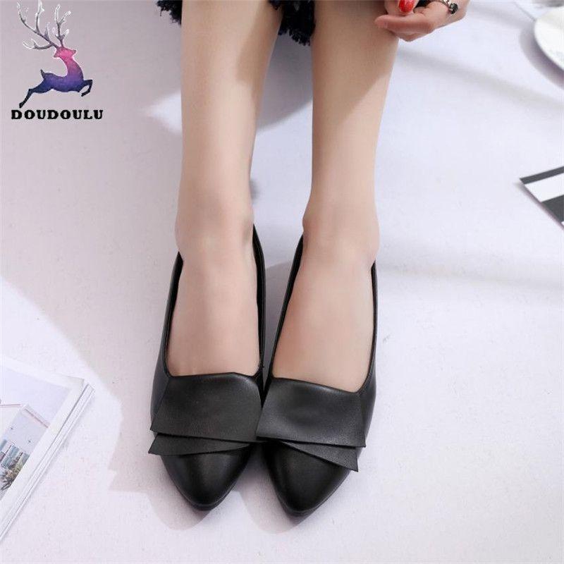 Casual Women Mujer On Pointed Slip Office Wedding Designer Dress Leather Pumps Woman Shoes Ladies Zapatos Summer ZuwOXPikT