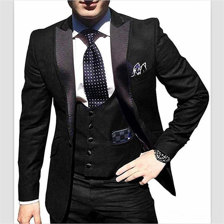 4d5a30d3f60 Acheter Thorndike 2018 Costume Slim Fit 3 Pièce Costumes Pour Hommes Veste  Veste Tux Gilet Pantalon Ensemble Pour Mariage Costumes De Fête Formelle De  ...