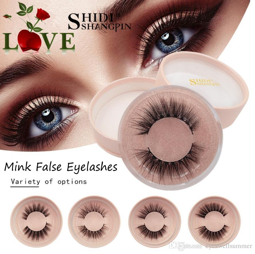 SHIDISHANGPIN mink eyelashes natural long 3d mink lashes hand made false  eyelashes 1 box 3d lashes eyelash extension